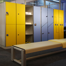 Gym Locker With Hpl Bench